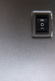 Powerbutton - close-up. Royalty Free Stock Photo