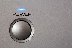 Powerbutton - close-up Stock Afbeelding