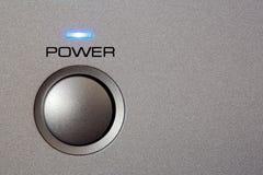 Powerbutton - Nahaufnahme Stockbild