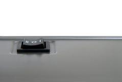 Powerbutton - primo piano. Fotografia Stock