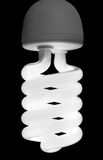 Powered on Compact Florescent Bulb Stock Photo