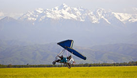Powered hang glider Stock Photos