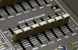 Powered Mixers graphic equalizer field Stock Image