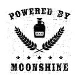 Powered by moonshine Royalty Free Stock Photo