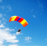 Powered parachute. In the blue sky Stock Images