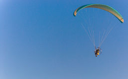 Powered parachute in flight. Stock Photography