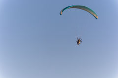Powered parachute in flight. Stock Images