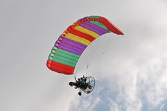 Powered parachute flight Stock Images