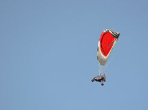 Powered paraglide or paramotor flight Stock Photography
