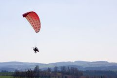 A powered paraglider Royalty Free Stock Image