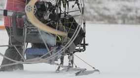 Powered_Paraglider_Moving_On_Snow stock footage