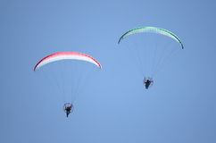 Powered paragliders Royalty Free Stock Image