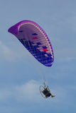 Powered paragliding Royalty Free Stock Image