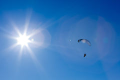 Powered Paragliding With The Sun Stock Photo