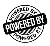 Powered By rubber stamp Stock Photo