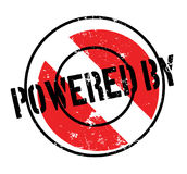 Powered By rubber stamp Stock Images