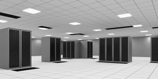 Powered Shell Data Center Room Stock Photography