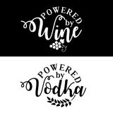 Powered by wine/vodka. royalty free illustration