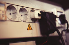 Powerfil multiple socket outlet Stock Photography