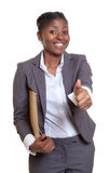 Powerful african businesswoman Stock Images