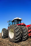 Powerful agricultural tractor in a field Stock Image