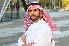 Powerful Arab businessman man close up