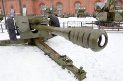 Powerful artillery gun. Royalty Free Stock Photos
