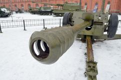 Powerful artillery gun. Royalty Free Stock Photo
