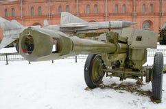 Powerful artillery gun. Stock Images