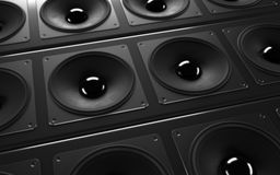 A powerful audio system Stock Photography