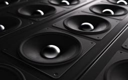 A powerful audio system. Array of speakers Stock Photography