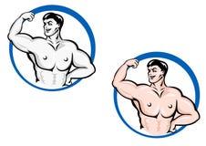 Powerful bodybuilder Stock Photos