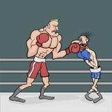 Powerful boxer Royalty Free Stock Photos