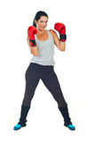 Powerful boxer woman Stock Photo