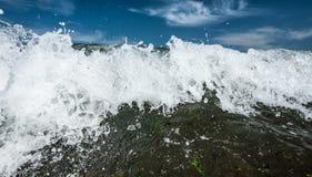 Powerful breakers at ocean coast Stock Photos