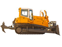 Powerful bulldozer Royalty Free Stock Images