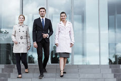 Powerful business team Stock Images