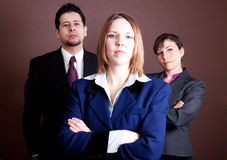 Powerful business woman Stock Images