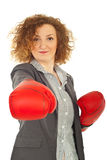Powerful business woman Royalty Free Stock Image