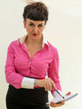 Powerful business woman. Stock Photography