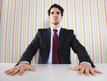 Powerful businessman Stock Images