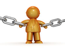 Powerful businessman holding chains Royalty Free Stock Photo