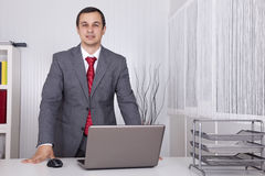 Powerful businessman at the office Royalty Free Stock Photos