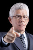 Powerful businessman pointing Stock Photography