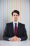Powerful businessman portrait Stock Image