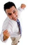 Powerful Businessman Posing Royalty Free Stock Photos