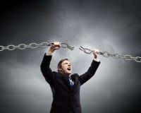 Powerful businessman Stock Photo