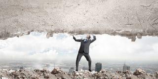 Powerful businessman Royalty Free Stock Photo