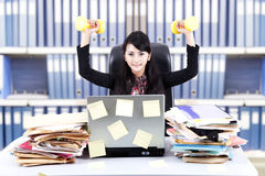 Powerful businesswoman at office Royalty Free Stock Photography