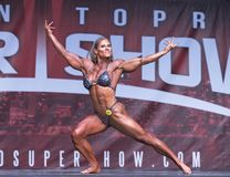 Powerful Canadian Female Bodybuilder at 2018 Toronto Pro Supershow Stock Images